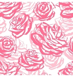 Seamless pattern with pink roses Fashion natural vector image vector image