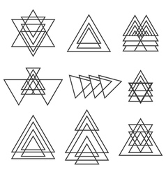 Set of geometric shapes trendy geometric icons vector