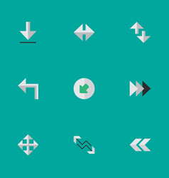 Set of simple pointer icons elements indicator vector
