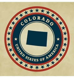 Vintage label colorado vector