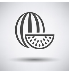 Watermelon icon on gray background vector image vector image
