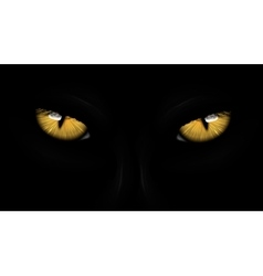 Yellow eyes black panther vector