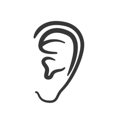 Ear human listen sound body part icon vector