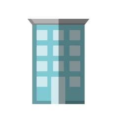 Hotel building place isolated icon vector