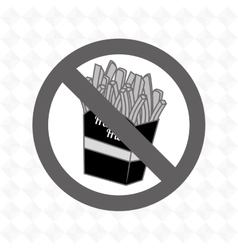 Fries fast food unhealth prohibited vector