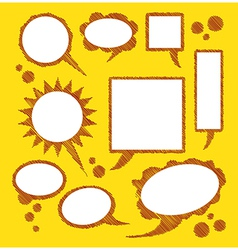 Bubbles for text on yellow background vector