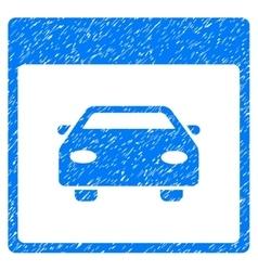 Automobile car calendar page grainy texture icon vector