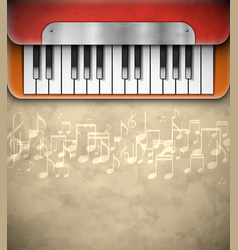 Background with piano vector
