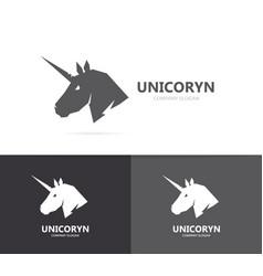 unicorn or horse logo template vector image