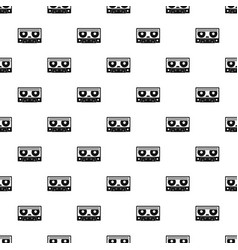 audio cassette tape pattern vector image