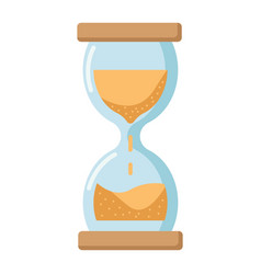 hourglass flat icon business and deadline vector image