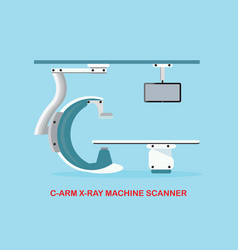 Operating room with x ray medical scan vector