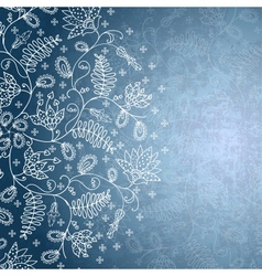 Winter background with snowflake flower vector