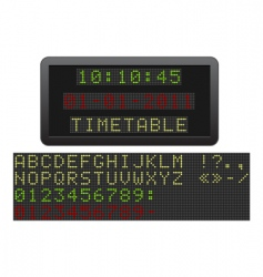 electric timetable vector image