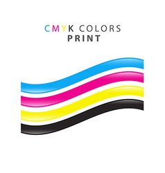 Cmyk print color vector