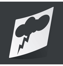 Monochrome thunderstorm sticker vector