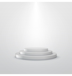 Empty white stage podium vector