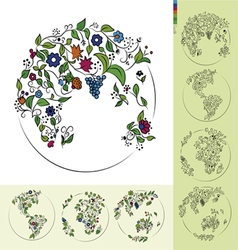 Flower earth vector