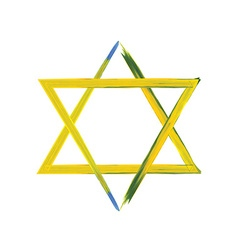 Star of david sign on white vector