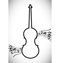 Violin icon design vector