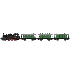 Classic steam train vector