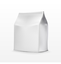 Foil paper food bag package of coffee salt sugar vector