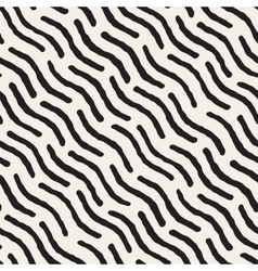 Seamless hand painted diagonal wavy lines vector