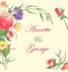 a vintage frame on floral vector image vector image