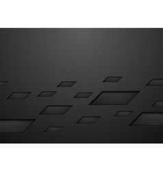 Abstract black geometric technology background vector image vector image