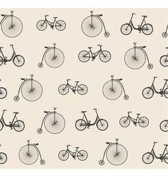 Bike seamless pattern vector