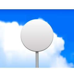 Blank round road sign vector image vector image