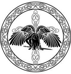 celtic angel vector image