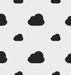 Cloud icon sign Seamless pattern with geometric vector image