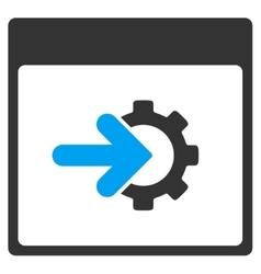 Cog integration calendar page toolbar icon vector
