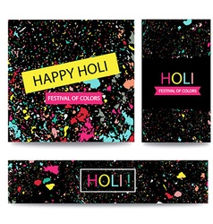 Colorful indian festival happy holi celebrations vector