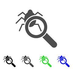 Debugger explorer flat icon vector