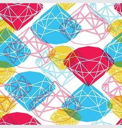 diamond symbol seamless vector image vector image