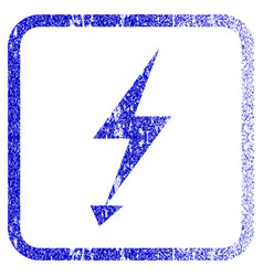 electric strike framed textured icon vector image vector image