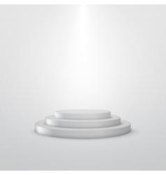 Empty white stage podium vector