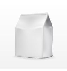 Foil paper food bag package of coffee salt sugar vector