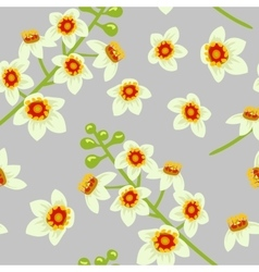 Frankincense flower seamless pattern vector