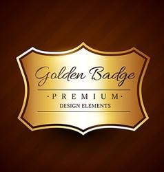 golden premium badge label design element vector image