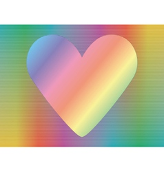hologram with valentine vector image
