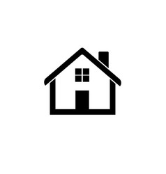Home icon house flat vector