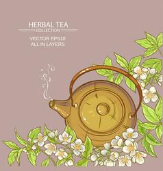 Jasmine tea background vector