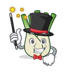 Magician fennel mascot cartoon style vector