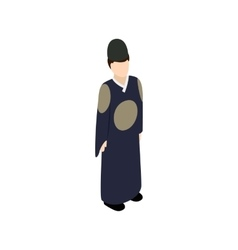 Male korean icon isometric 3d style vector image vector image