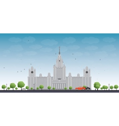 Mgu moscow state university moscow russia vector