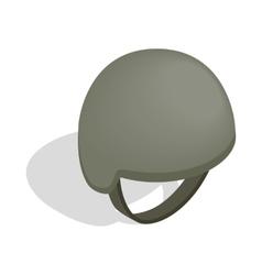 Military helmet icon isometric 3d style vector