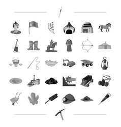nature equipment transportation and other web vector image vector image